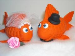 goldfish cake topper