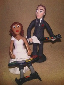 Rock Band Cake Topper