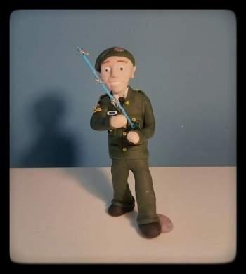 Military Uniform Cake Topper
