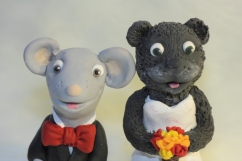 Bear and Mouse Cake Topper