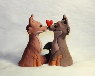 Facebook Emoji Fox Cake Topper