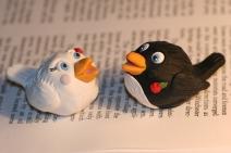Birds Cake Topper- black and white