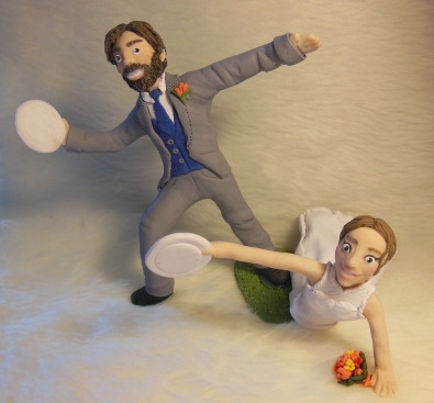 Ultimate Frisbee Cake Topper